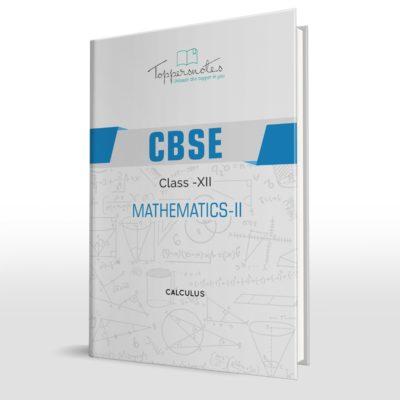 CBSE-XII Toppers Handwritten Notes- Mathematics